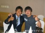 ソウル大国際交流・韓国語履修を生かして交流する松林選手