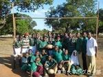 タンザニアの子供たち 試合前の様子